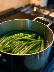 pot of beans boiling