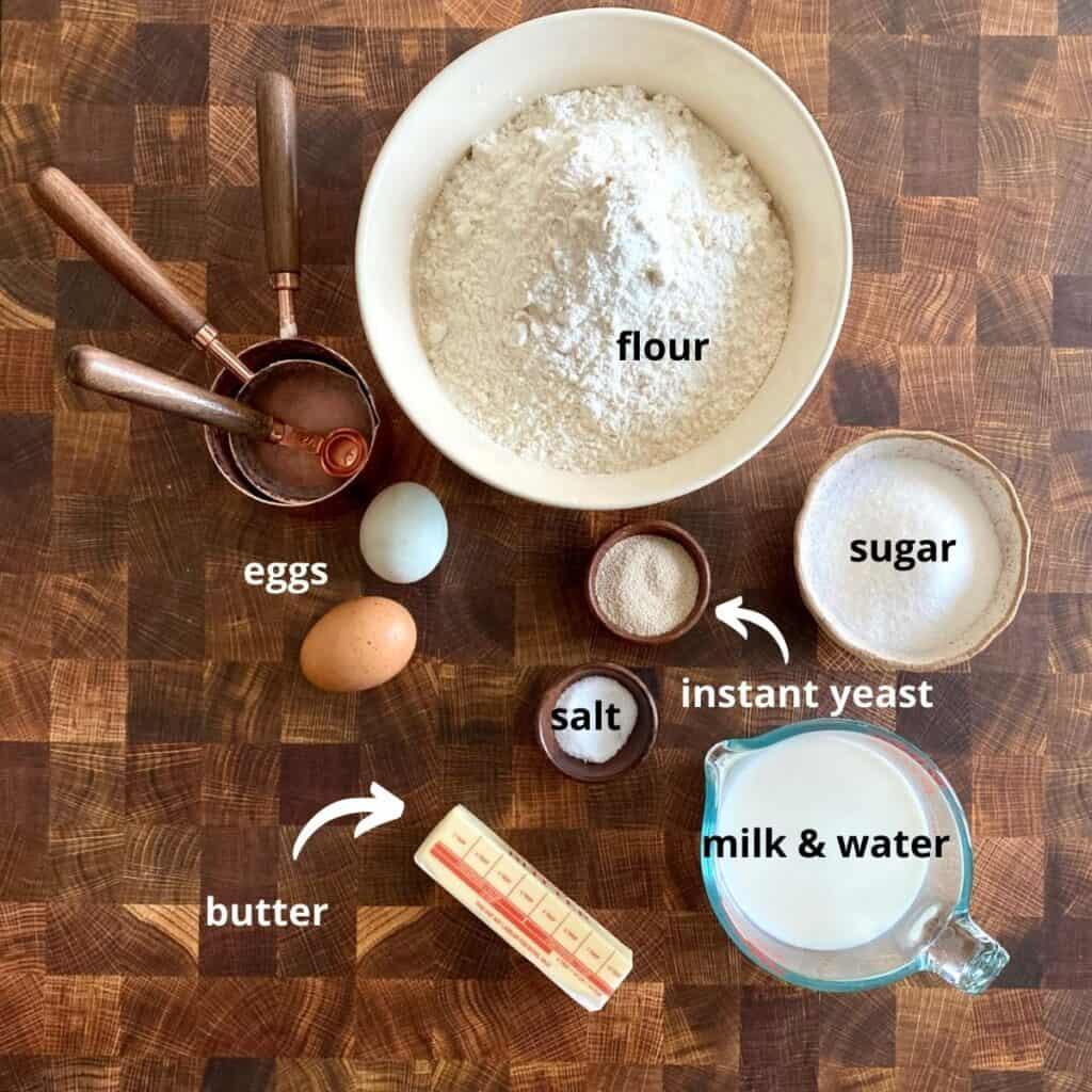 ingredients for kuchen dough