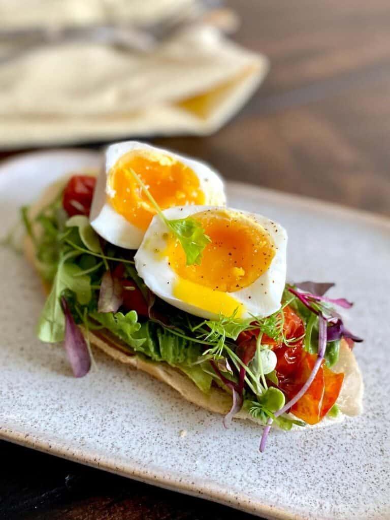 jammy egg on avocado toast